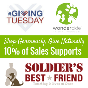 We'll donate 10% of your purchase today to Soldier's Best Friend