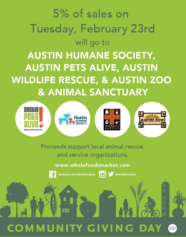 Austin And Whole Foods Community Giving
